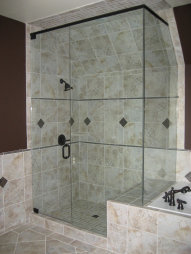 Custom shower installation, bathroom painting