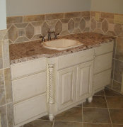 Atl tiles installatin, granite countertop