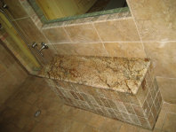 Atlanta shower granite custom shower seat