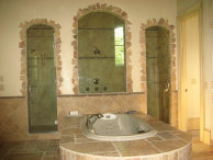 Atlanta bathroom remodeling, travertine tiles installation