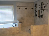Atlanta bathroom remodeling, tiles installation