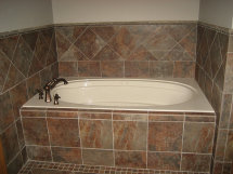 Roswell bathroom remodeling, tiles installation
